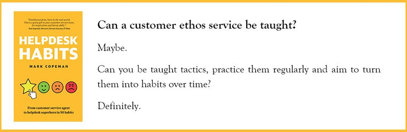 IT soft skills - Helpdesk Habits book quote